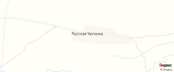 Советская улица на карте деревни Русской Ургинки с номерами домов