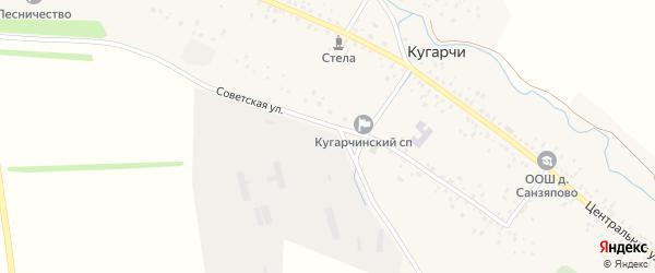Советская улица на карте села Кугарч с номерами домов