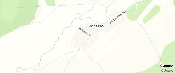 Карта деревни Ибраево в Башкортостане с улицами и номерами домов
