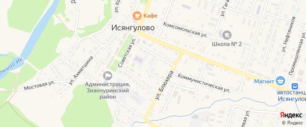 Переулок К.Маркса на карте села Исянгулово с номерами домов