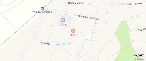 Улица Пл.Октября на карте села Чуваш-Кубово с номерами домов