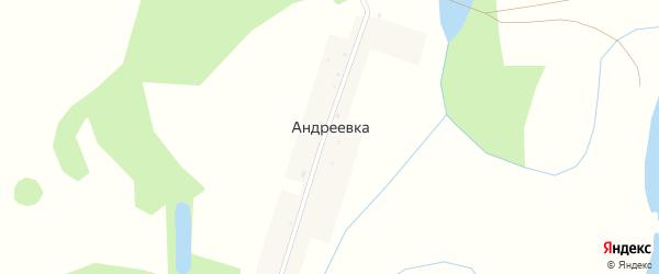 Центральная улица на карте деревни Андреевки с номерами домов