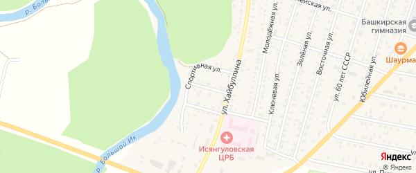 Улица Чапаева на карте села Исянгулово с номерами домов