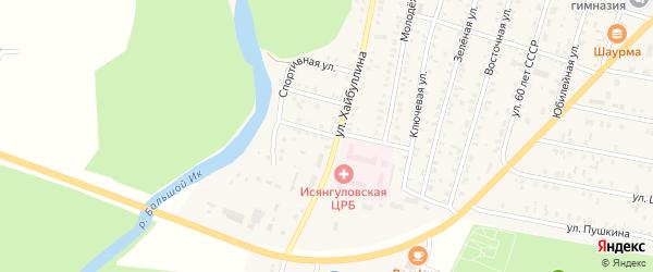 Больничная улица на карте села Исянгулово с номерами домов