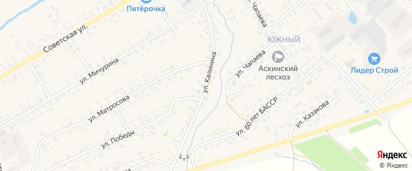 Улица Калинина на карте села Аскино с номерами домов