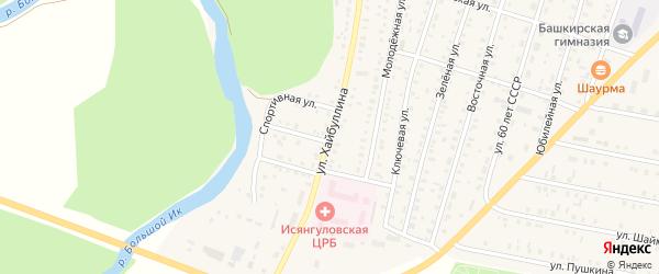 Улица Хайбуллина на карте села Исянгулово с номерами домов