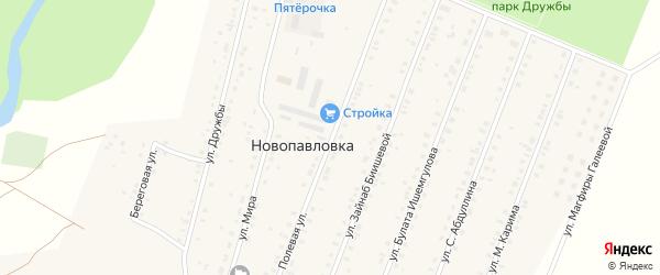 Полевая улица на карте села Исянгулово с номерами домов