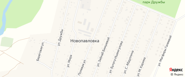 Полевая улица на карте села Новопавловки с номерами домов