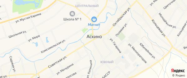 Карта села Старые Казанчи в Башкортостане с улицами и номерами домов
