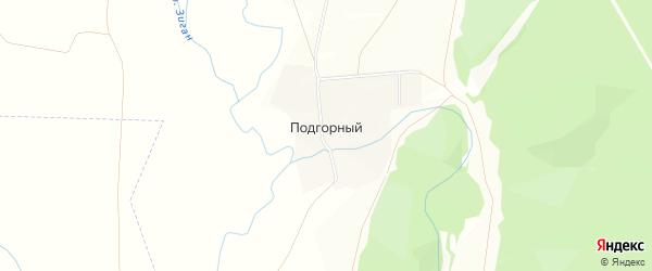Карта деревни Подгорного в Башкортостане с улицами и номерами домов