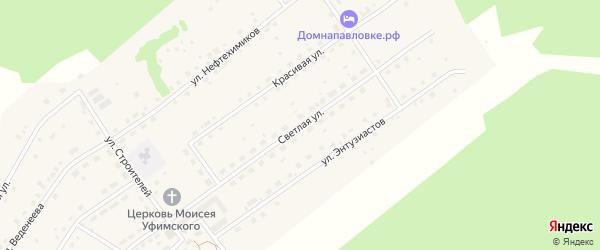 Светлая улица на карте села Павловки с номерами домов