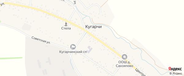 Центральная улица на карте села Кугарч с номерами домов