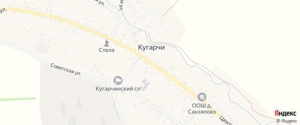 Центральная улица на карте деревни Верхнесюрюбаево с номерами домов