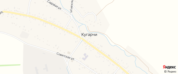 Улица Мажит Рафикова на карте села Кугарч с номерами домов