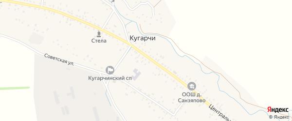 Центральная улица на карте деревни Бикешево с номерами домов