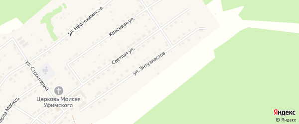 Улица Энтузиастов на карте села Павловки с номерами домов