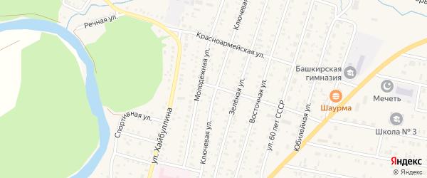 Ключевая улица на карте села Исянгулово с номерами домов