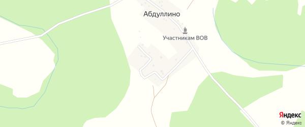 Молодежная улица на карте деревни Абдуллино с номерами домов