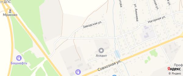Заводская улица на карте села Мраково с номерами домов