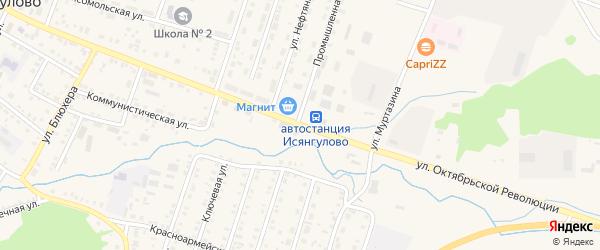 Улица Октябрьской Революции на карте села Исянгулово с номерами домов