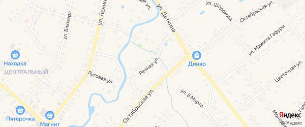 Речная улица на карте села Аскино с номерами домов