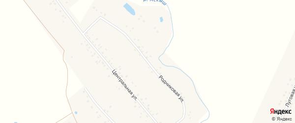 Родниковая улица на карте деревни Карткисяка с номерами домов