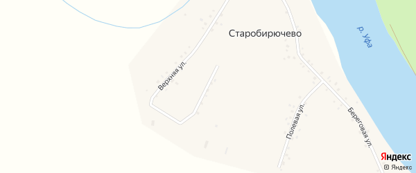 Верхняя улица на карте деревни Старобирючево с номерами домов