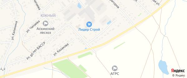 Улица М.Горького на карте села Аскино с номерами домов