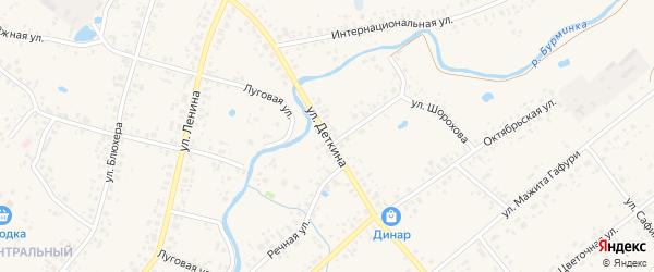 Улица Деткина на карте села Аскино с номерами домов
