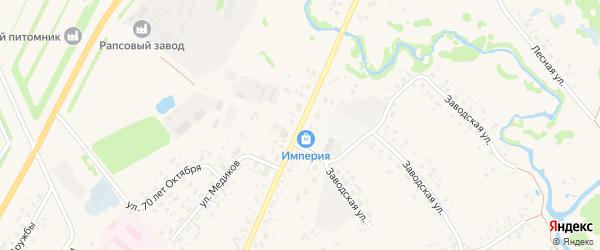 Улица Ленина на карте села Аскино с номерами домов
