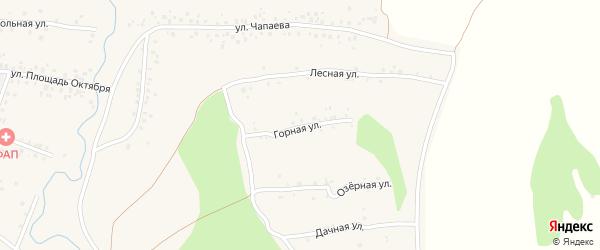 Горная улица на карте села Чуваш-Кубово с номерами домов