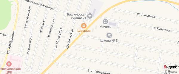Интернациональная улица на карте села Исянгулово с номерами домов