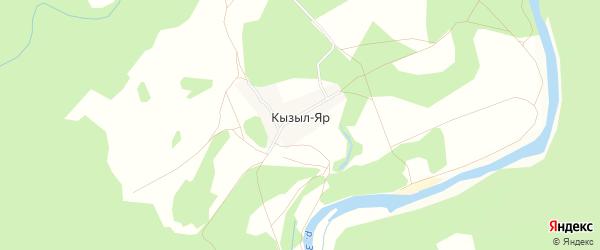 Карта деревни Кызыла Яра в Башкортостане с улицами и номерами домов