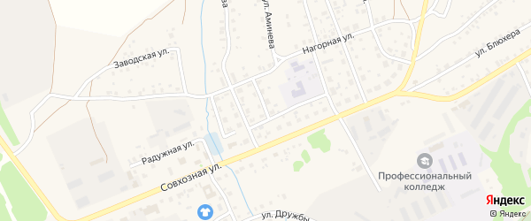 Тукая улица на карте села Мраково с номерами домов