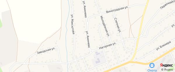 Улица Аминева на карте села Мраково с номерами домов
