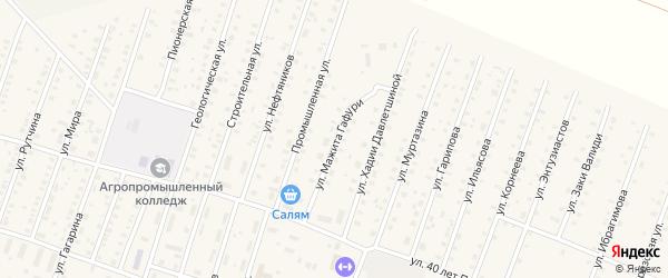 Улица М.Гафури на карте села Исянгулово с номерами домов