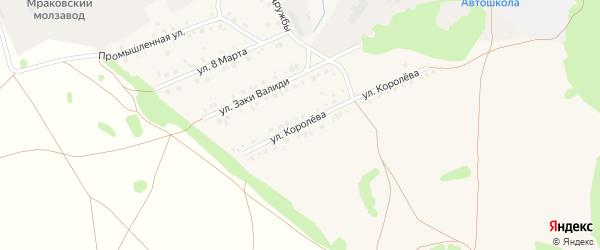 Улица Королева на карте села Мраково с номерами домов