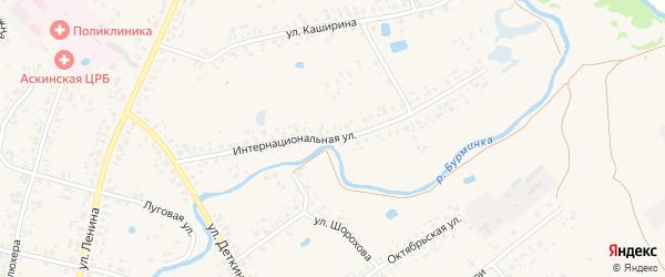 Интернациональная улица на карте села Аскино с номерами домов