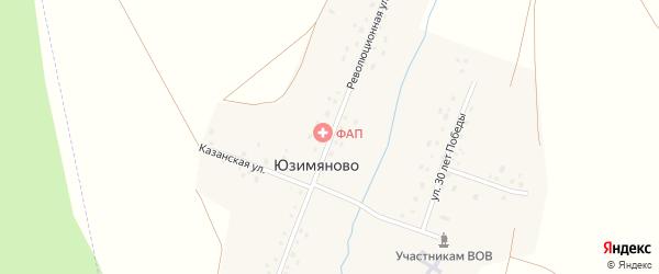 Революционная улица на карте деревни Юзимяново с номерами домов