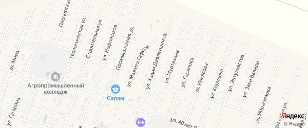 Улица Х.Давлетшиной на карте села Исянгулово с номерами домов
