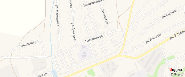 Нагорная улица на карте села Мраково с номерами домов
