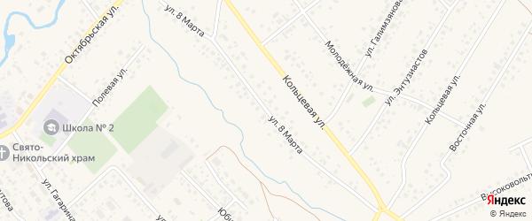Улица 8 Марта на карте села Аскино с номерами домов