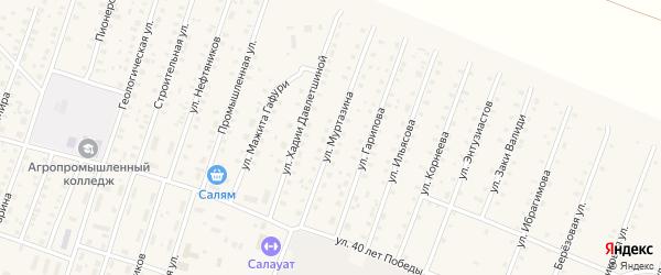 Улица Муртазина на карте села Исянгулово с номерами домов