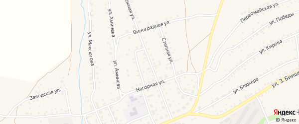 Молодежная улица на карте села Мраково с номерами домов