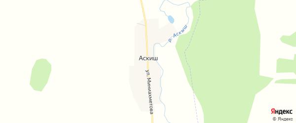 Карта деревни Аскиша в Башкортостане с улицами и номерами домов