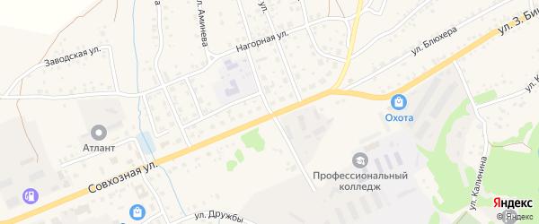 Учительская улица на карте села Мраково с номерами домов