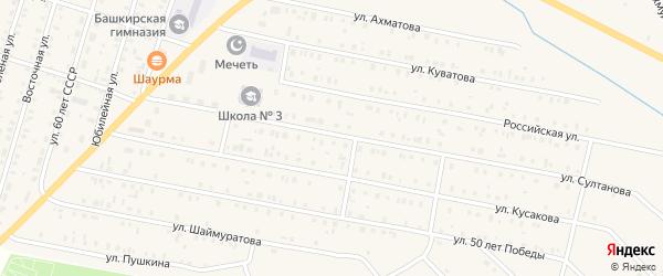 Садовая улица на карте села Исянгулово с номерами домов
