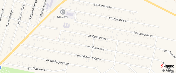 Улица Аэропорт на карте села Исянгулово с номерами домов