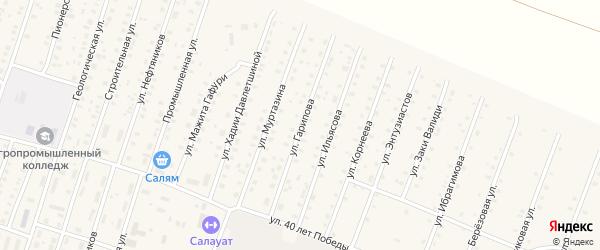 Улица Р.Гарипова на карте села Исянгулово с номерами домов