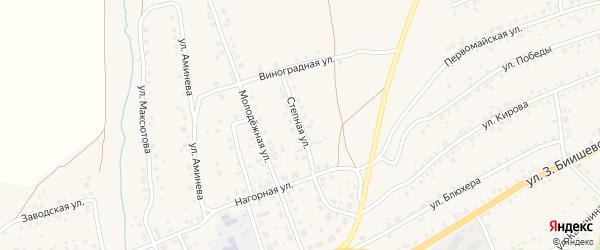 Степная улица на карте села Мраково с номерами домов